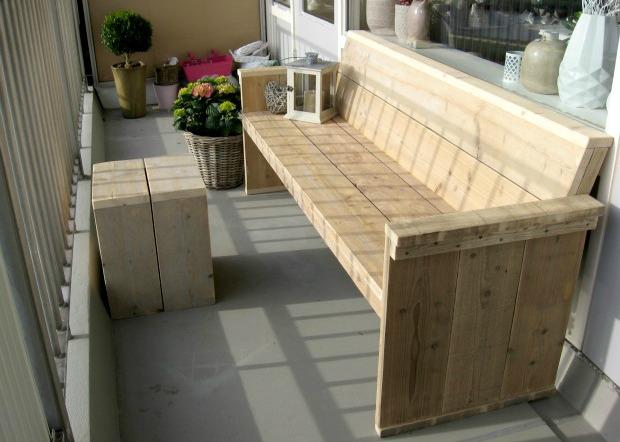 Steigerhouten tuinmeubels for Tuinbank steigerhout aanbieding