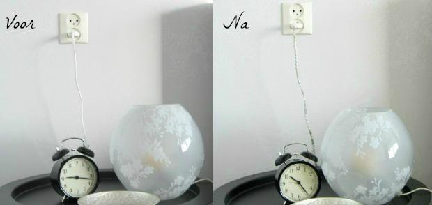 Snelle Stylingtip: kabels omwikkelen met tape