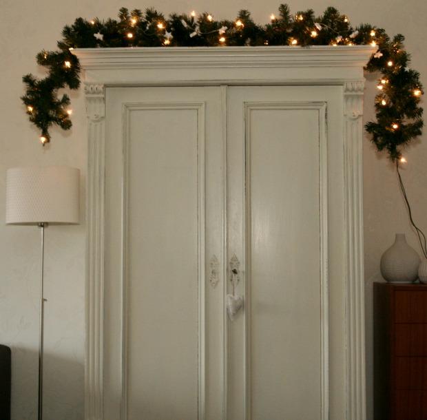 kerst guirlande kast