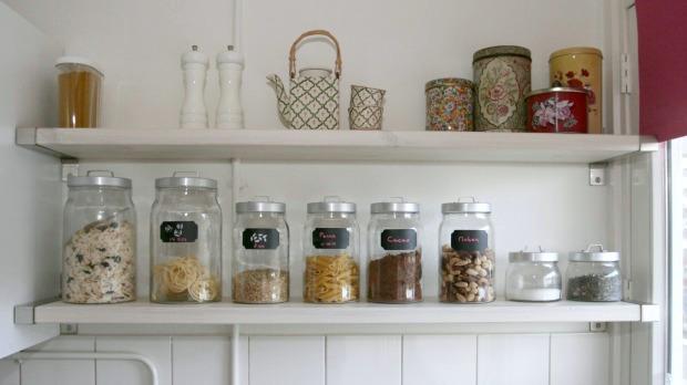 glazen voorraadpotten keuken